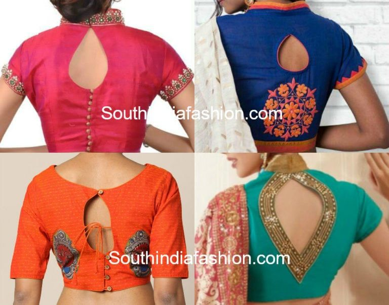 Keyhole Blouse Designs (With images) | Blouse designs, Blouse neck .