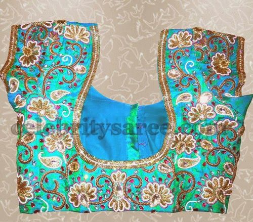 Aari Work Latest Blouse Designs (With images) | Blouse designs late