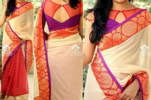 Beautiful Designer Sarees (With images) | Trendy blouse designs .