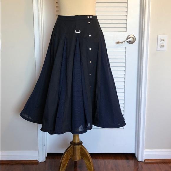 Lena Lumelsky Skirts | Blue Designer Skirt | Poshma