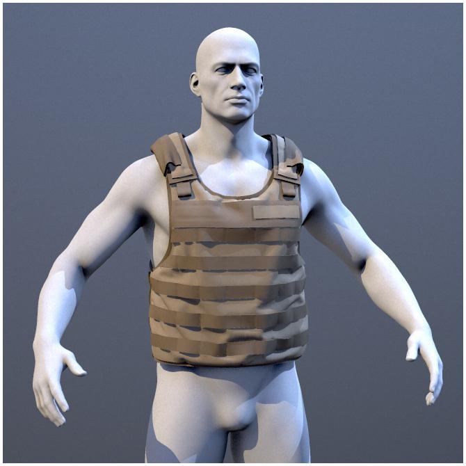 Army Vest - Marvelous Designer Fi