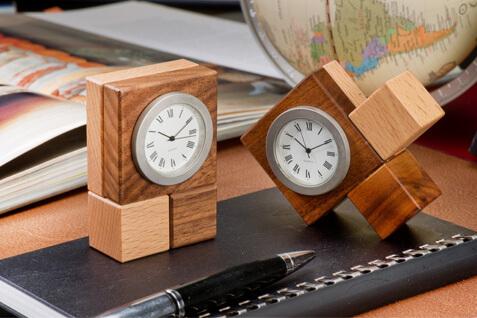 Wooden Desktop Clock, Decorative Desk Clock - Best