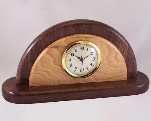 wooden clock | Desk Clocks - Decorative Wood Desk Clocks .