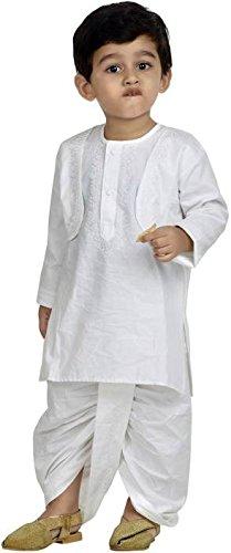 Buy Kid's White Dhoti Kurta at Amazon.