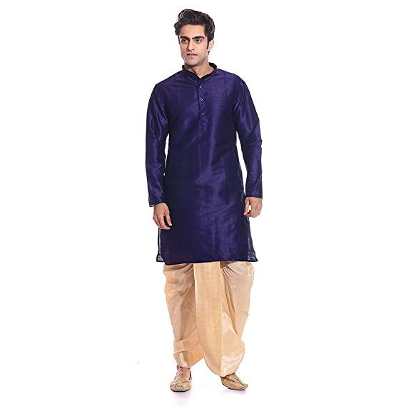 Buy Tag 7 Men's Silk Blend Dhoti Kurta Set at Amazon.