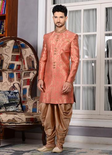 Kesari Exports Wedding Heavy Designer Jacquard Silk Grooms Dhoti .