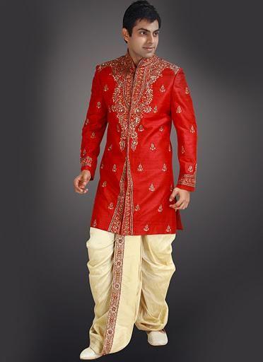 Traditional Indian Wedding Sherwani with Designer Dhoti | Indian .