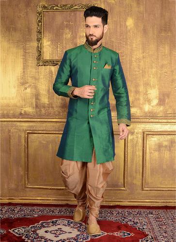 Kesari Exports Wedding Wear Designer Silk Dhoti Sherwani, Rs 2540 .