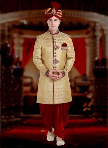 Wedding Wear Designer Silk Wholesale Dhoti Sherwani - Bigpage.