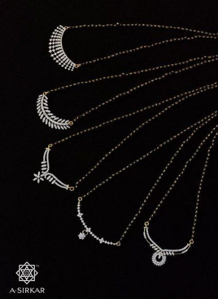 New Wedding Rings Unique Black Jewelry Ideas | Gold mangalsutra .