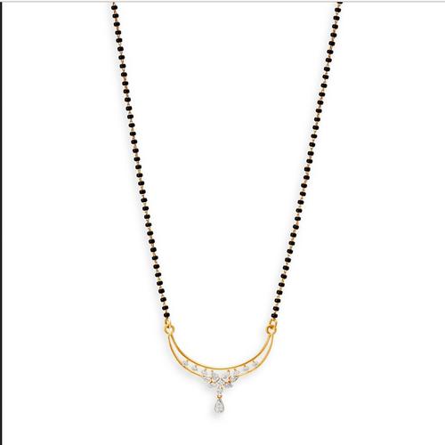 Tanishq 18KT Yellow Gold Diamond Mangalsutra, Rs 37462 /piece .