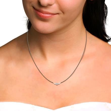 Shreya Diamond Mangalsutra | Gold mangalsutra designs, Diamond .