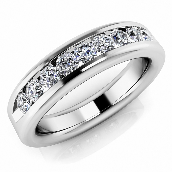0.72ct Channel-Set Diamond Band Wedding Mens Ri
