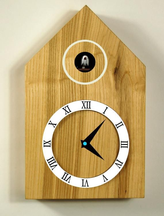 Cuckoo clock, different finishes | Clock, Wood clocks, Modern clo