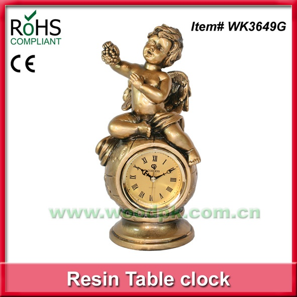 Resin boy clock old style different types of clocks home decor .