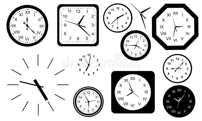 Different Types Clocks Stock Illustrations – 23 Different Types .