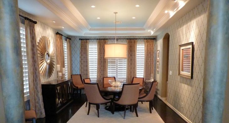 23+ Dining Room Ceiling Designs, Decorating Ideas   Design Trends .