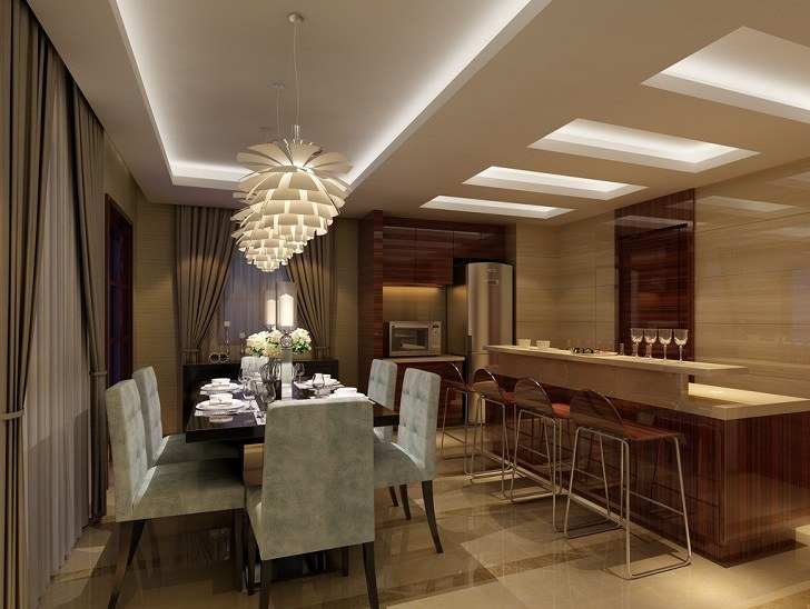 50 Stylish and elegant dining room ceiling design ideas in modern .