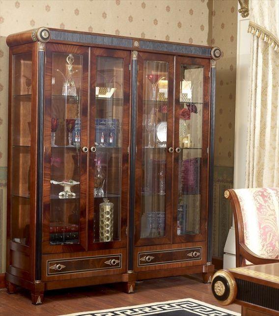 Wooden Showcase Designs For Dining Room | Hiasan, Lemari hias .
