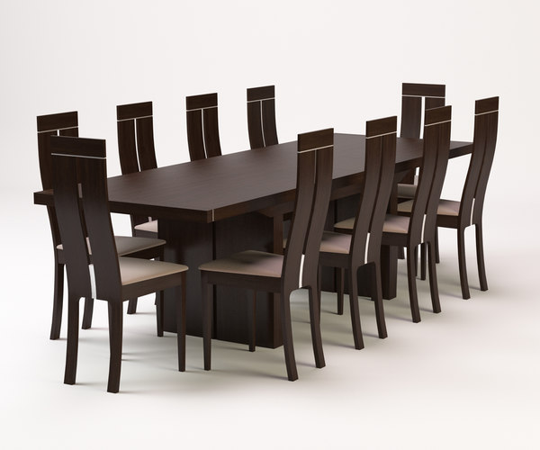 3d model dining table cha