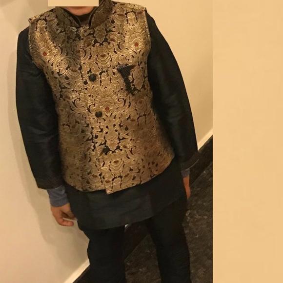 Dresses | 56 Yrs Indian Boys Diwali Kurta Pajama Koti Set | Poshma