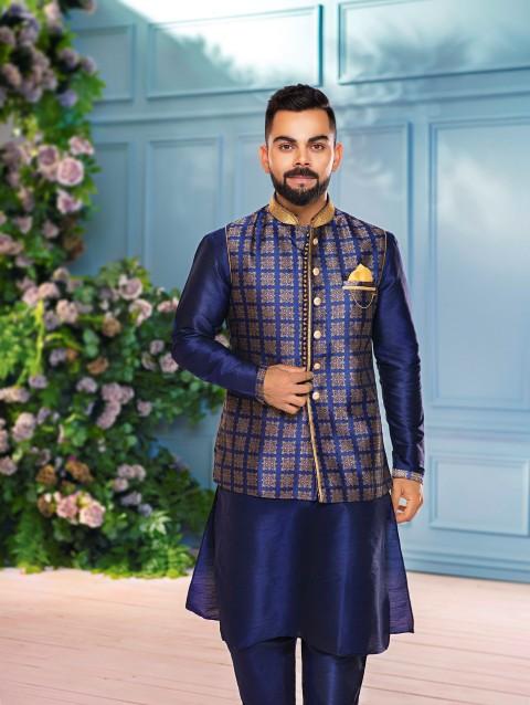 Virat Kohli: My personal favorite look is the Royal Blue Kurta .