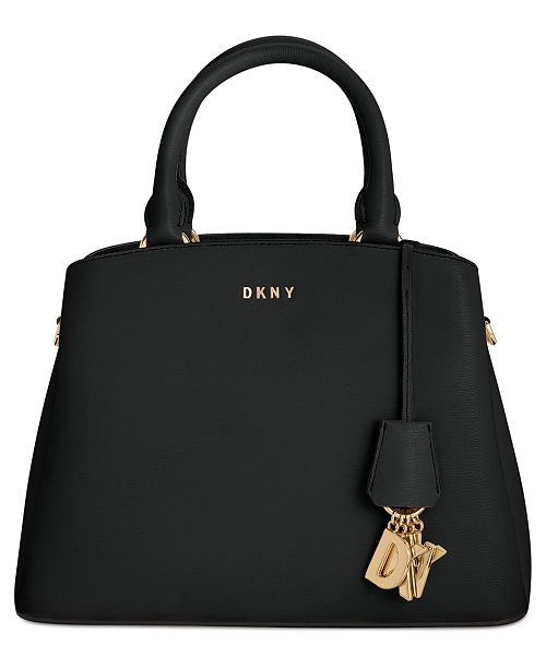 DKNY Paige Leather Medium Satchel, Created for Macy's & Reviews .