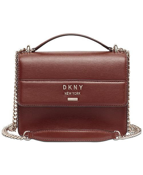 DKNY Ava Leather Shoulder Bag, Created for Macy's & Reviews .