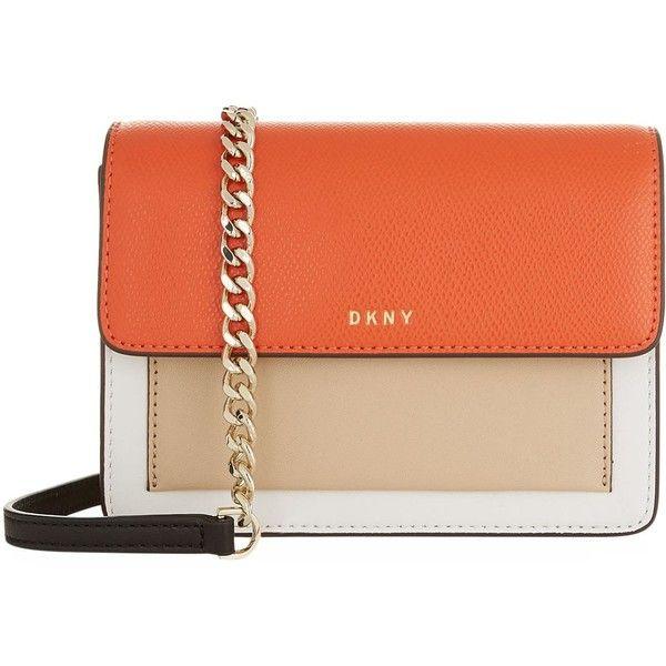 DKNY Mini Bryant Park Cross Body Bag ($155) ❤ liked on Polyvore .