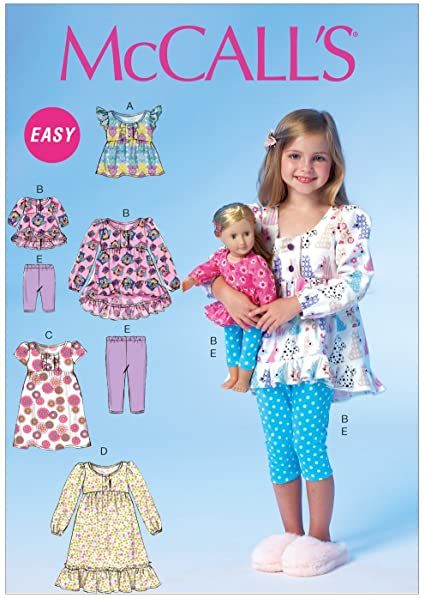 Amazon.com: McCall Pattern Company M7043CL0 Children's/Girls/18 .