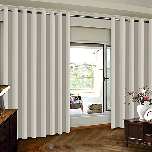 Amazon.com: Extra Wide Patio Door Curtains Thermal Insulated .