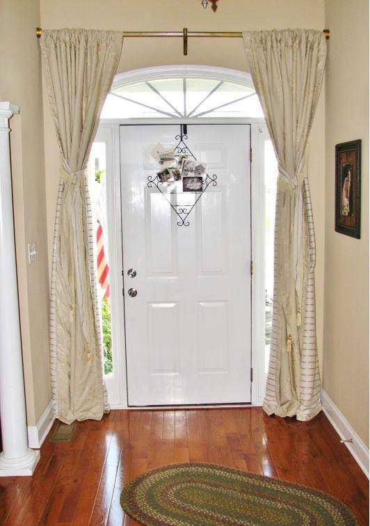 Front door curtain | Front door curtains, Door curtains designs .
