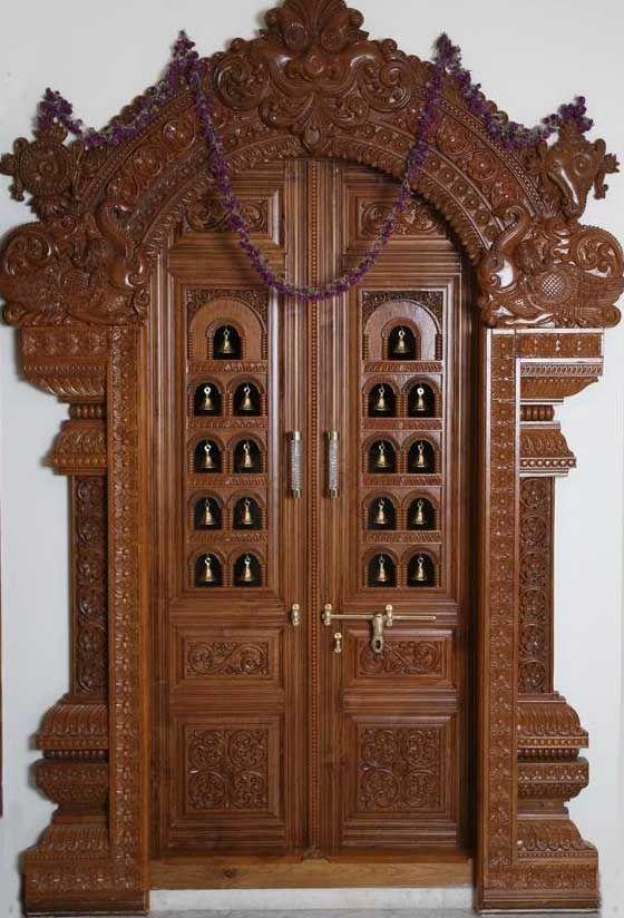 Latest Pooja Room Door Frame And Door Design Gallery (With images .