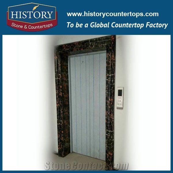 Black Marble Natural Stone Designs Factory Price Interior Door .