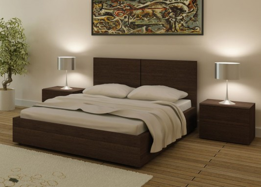 Storage Contemporary Design Double Bed, Aura Bed from Go Modern .