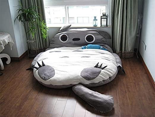 Amazon.com: Totoro Double Bed Sleeping Bag Pad Sofa Bed Mattress .