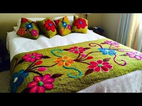 Hand Embroidery New Design bed sheet Collection, Beautiful Double .
