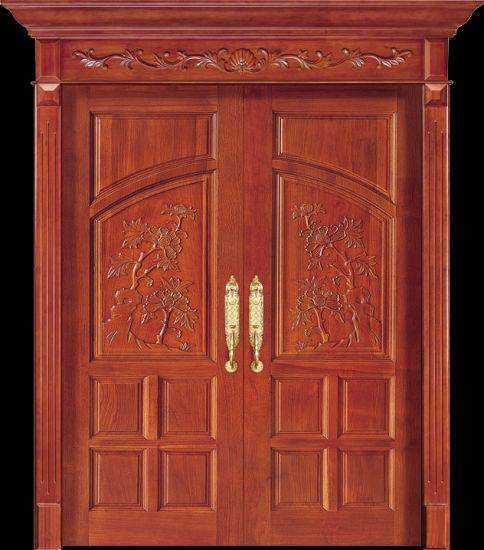 China Luxury Teak Wood Double Door Design (CL-2047) - China Main .