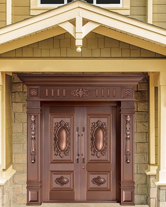 Bronze door security copper entry doors antique Copper Retro Door .