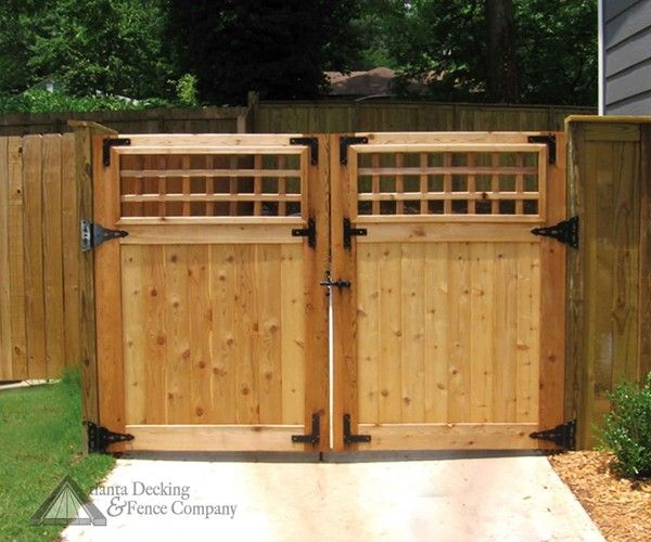 Cute double gate design. (With images) | Wood gate, Gate design .