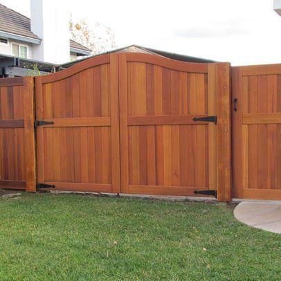 Double gate (With images) | Wood fence gates, Backyard fences .