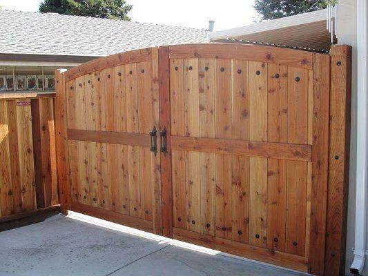 Custom Steel Frame Double Gate | Wooden gates driveway, Yard gate .
