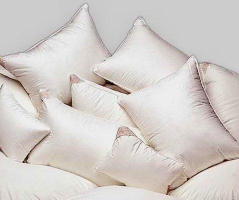 KING Down Pillow - White Goose Down Fill in Swiss Batiste Shell .