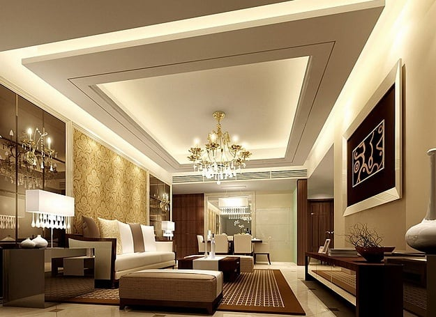 10 Modern Drawing Room Ceiling Designs With Pictur