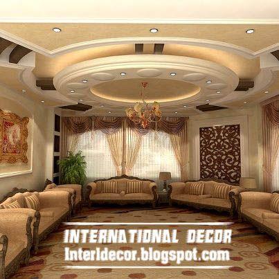 contemporary suspended ceiling interior design for living room .