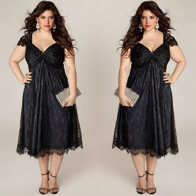 Big size 6XL woman lace dress 2016 Summer fat MM sexy sleeveless .