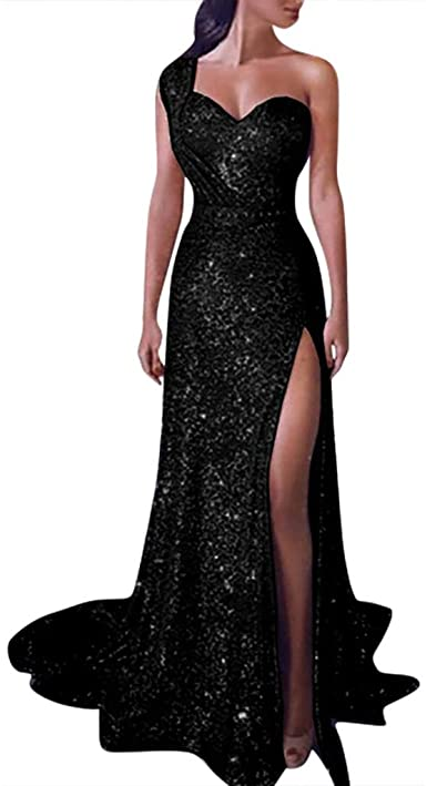 TRENDINAO Evening Dress for Women Party Elegant Bodycon Split Maxi .