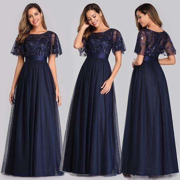 Shop Ever-Pretty Womens Elegant Embroidery A-Line Bridesmaid .