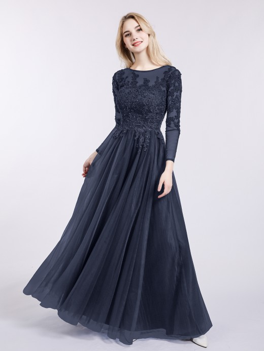 Long Sleeve Prom Dresses, Prom Dresses With Sleeves | BABARO