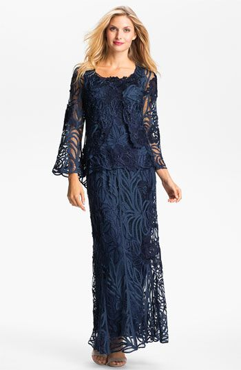 mother of bride dresses with bell sleeves | long sleeve, dresses .